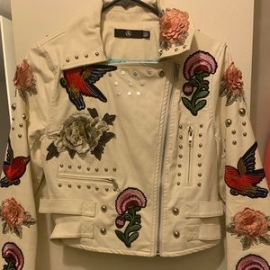 Missguided Studded/ embroidered Jacket